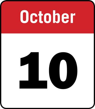 Calendar: October 10