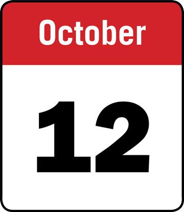 Calendar: October 12