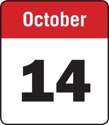 Calendar: October 14