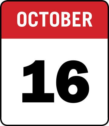 Calendar: October 16