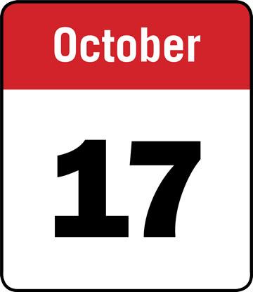 Calendar: October 17
